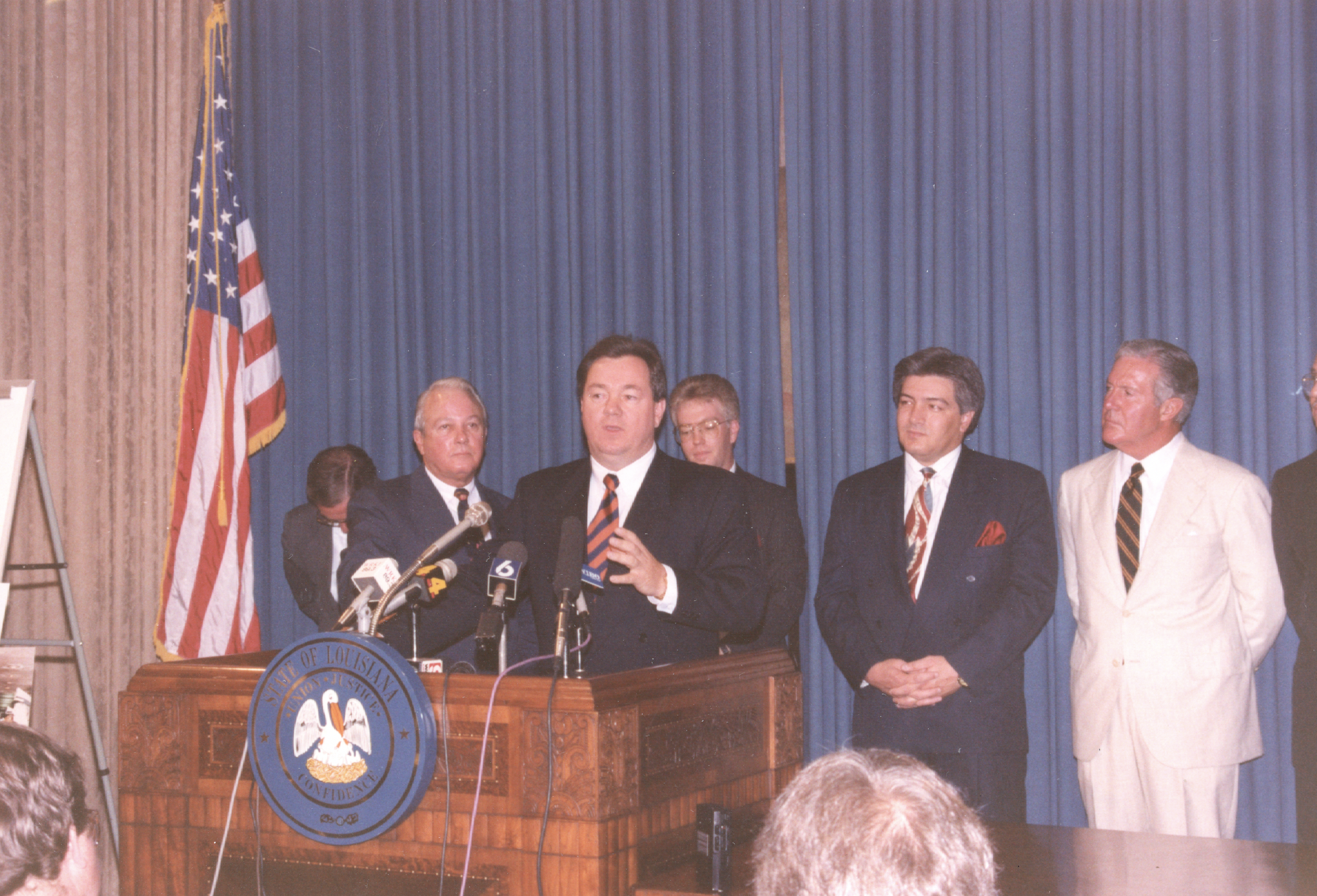 Robert Bobby Adams Governor Press Conference
